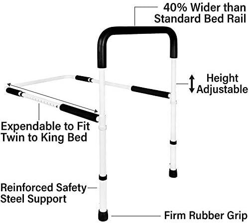 ZCXBHD 高さ調節可能な手のベッドレールは、安全性は、高齢者&シニア、大人のための子供サイド手すりハンディキャップをハンドルベッドの手すりをアシスト