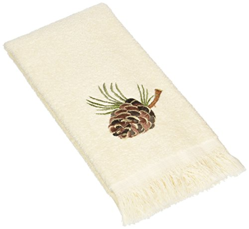 (Avanti Pine Creek Fingertip Towel, Ivory)