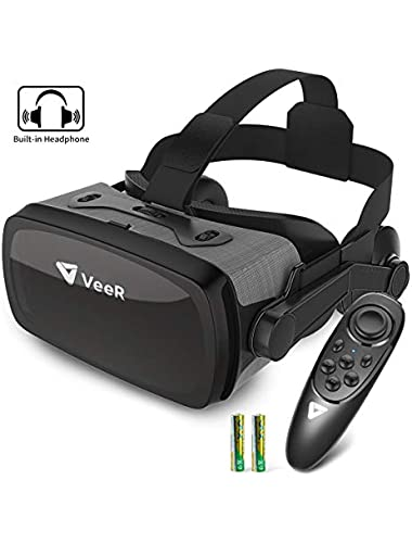 VeeR Falcon Headset with Controller  Eye Protection Virtual Reality Goggles Comfortable Watch 360 Movies for Android  Samsung Galaxy  Huawei and iPhone XR 4 7-6 3inch