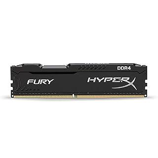 HyperX Kingston Technology Fury Black 8 GB CL15 DIMM DDR4 2400 MT/s Internal Memory (HX424C15FB2/8) (B01D8U2BKA) | Amazon Products