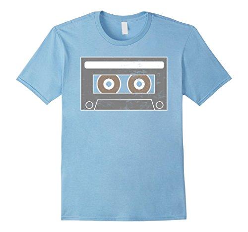 Mix Tape Halloween Costume (Mens Cassette Tape Hip Hop Mix Tape Halloween T Shirt Medium Baby Blue)