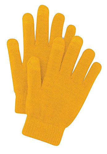 Dri-Wick Mens/Womens Knit Touchscreen Gloves (Gold, S/M) by Dri-Wick