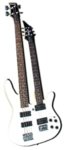 bad axx sdn 01 double neck 6 string electric guitar and 4 string electric bass. Black Bedroom Furniture Sets. Home Design Ideas