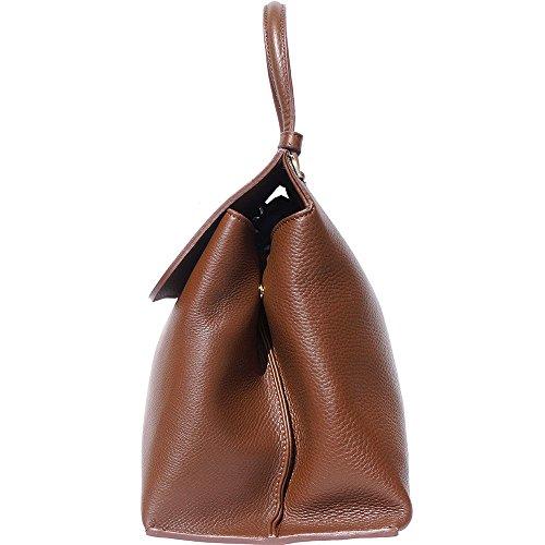 Cierre Para Bolso Market Florence 8061 Mujer versión Sola Con Manija Marron Madera Grande En Un lock Leather Turn fqYqXrz