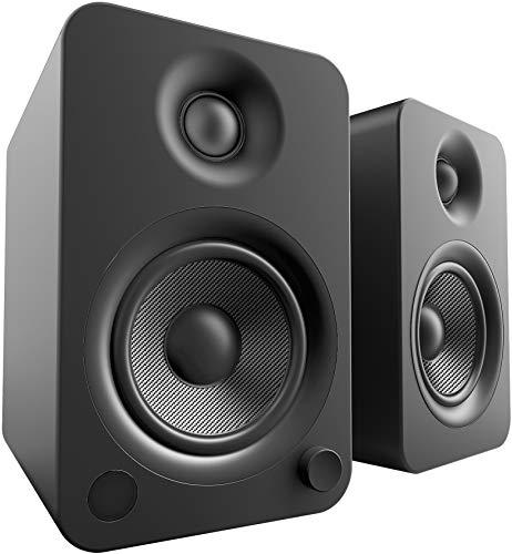 Kanto YU4MB Bluetooth Powered Speakers – 140 Watts – Phono Preamp (Matte Black)
