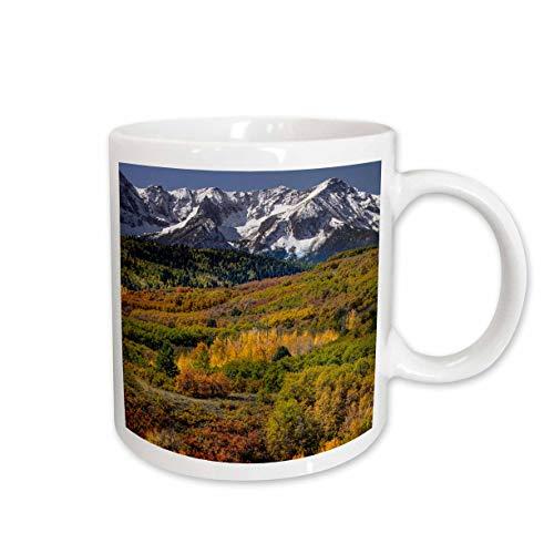 3dRose Danita Delimont - Scenics - Autumn aspens, Sneffels Range, Uncompahgre National Forest, Colorado - 15oz Two-Tone Black Mug (mug_314737_9)