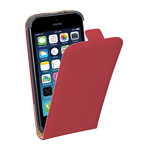 PEDEA Étui pour Apple iPhone 5/5S – Rouge