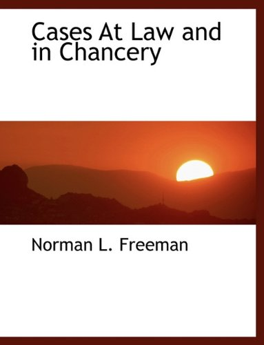 Cases At Law and in Chancery ebook