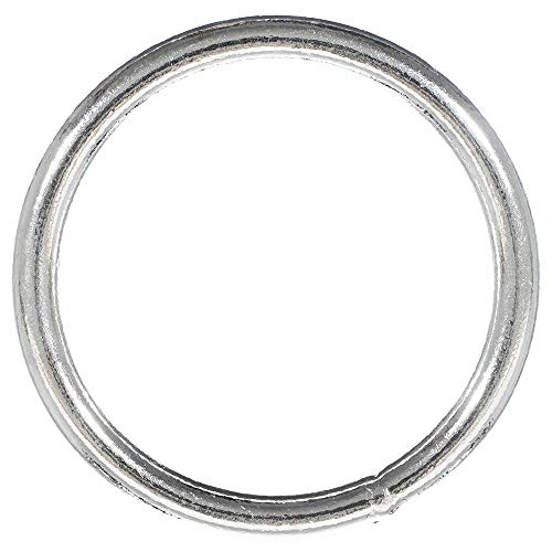 Craft County Nickel Plated 2 Inch Welded Steel O-Ring - For Jewelry Making, Macramé, and Wall Art (25 Pack) (O-ring Decor)
