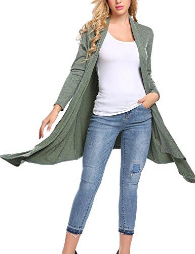 Zeagoo Gilet Pocket Femme Green Style TwA6ngq