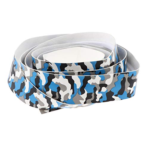 Rod Handle Wrap - Prettyia Fishing Rod Grip Tape Sweat Absorbing Paddle Handle Wrap Band Non-Slip 1.5m - Blue