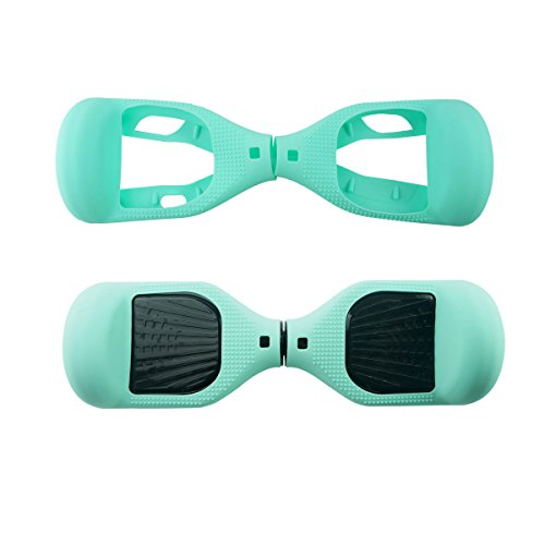 Fbsport 6.5inch Silicone Scratch Protector Cover Case For 2 Wheels Self Balancing Electric Scooter (Light Green)