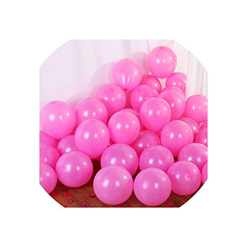 Confetti Balloon Latex Balloon Wedding Decoration Ballon,Matte D26 Pink,1G 5Inch Mini -