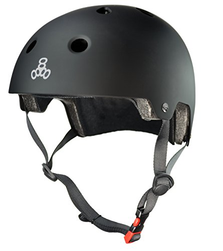 Triple-Eight-3038-Dual-Certified-Helmet-LargeX-Large-All-Black-Rubber
