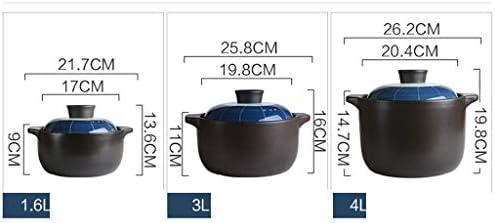 WZHZJ Anodisé dur antiadhésifs Céramique Casserole Covered (Size : 21.7cm*13.6cm)