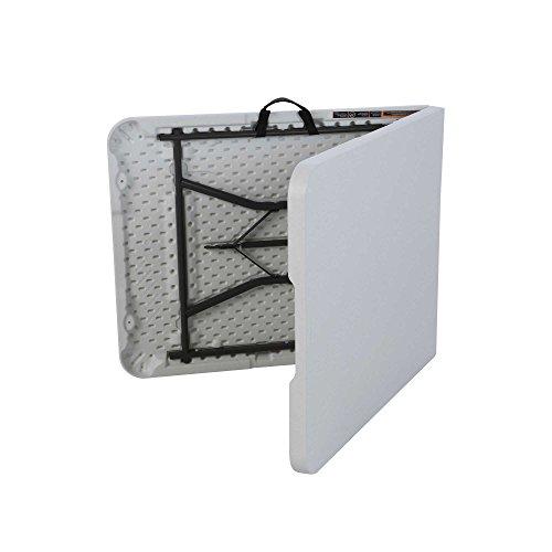 081483250113 - Lifetime 25011 Fold In Half Commercial Table, 6 Feet, White Granite carousel main 1