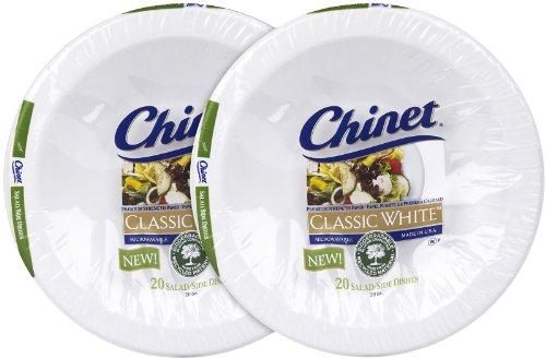 Chinet Classic White Salad 20oz 20