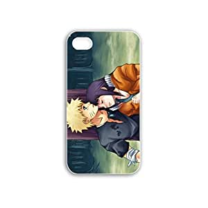 Diy Apple Iphone 4/4S Anime Series naruto and hinata hyuga anime White Case of Family Cellphone Skin For Men