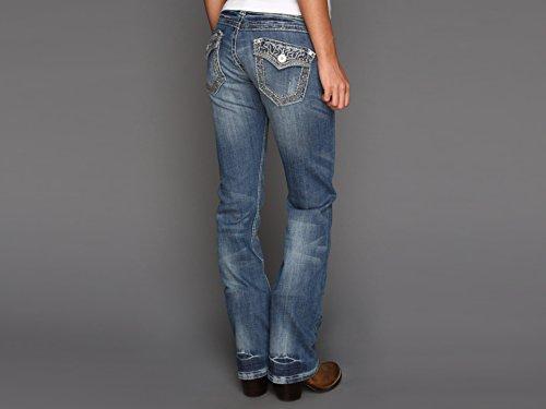 Stetson Women's 818 Rhinestone Bootcut Jeans Denim 8 L
