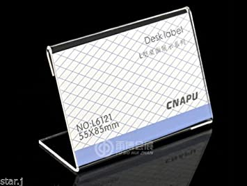 Earlywish acrylic sign display holder price name card label stand earlywish acrylic sign display holder price name card label stand 55x85mm 20pcspk reheart Images