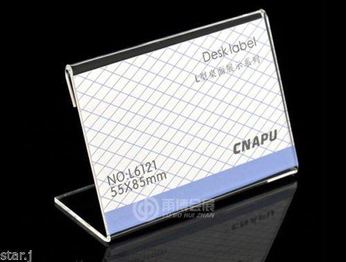Earlywish Acryl Zeichen Display Halter Preis Name Karte Label Stand 55x85mm, 20pcs / pk
