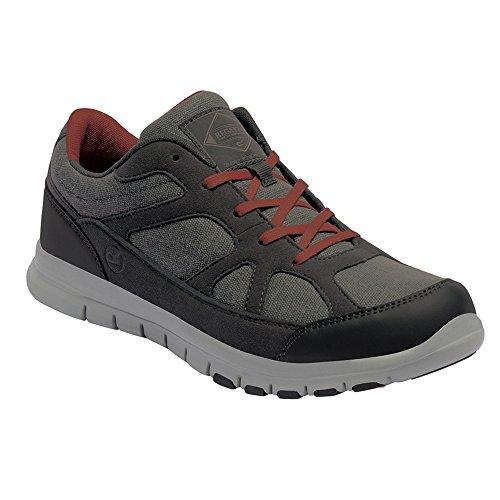 Regatta Mens Varane Sport Canvas Textile Athletic Sneakers Gran/Orange
