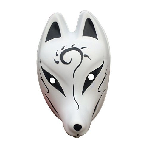 (YangYong Fox Style Full Face Cosplay Mask, PVC Large Size Costume Masks (Large-Full Cover,)