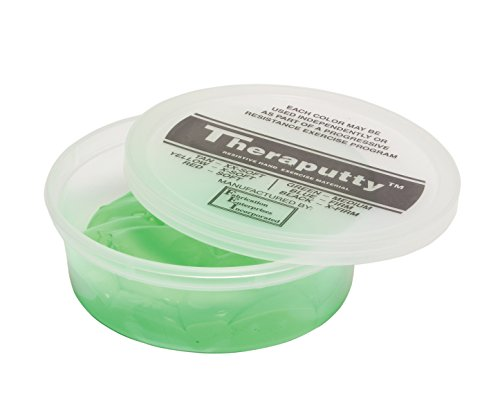 CanDo TheraPutty Plus Anti microbial Green