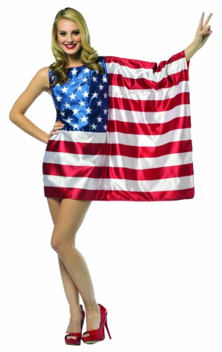 Independence Day Costumes Ideas - Rasta Imposta Flag USA Dress Red/White/Blue,