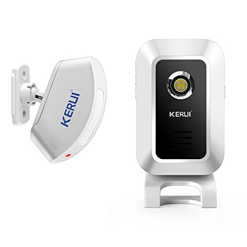 KERUI Wireless Split Welcome Motion Sensor Alert Alarm System Doorbell Door Bell with Long Range Receiver and Transmitter Home or Office Security Protection for Front Doors Entryways Garages