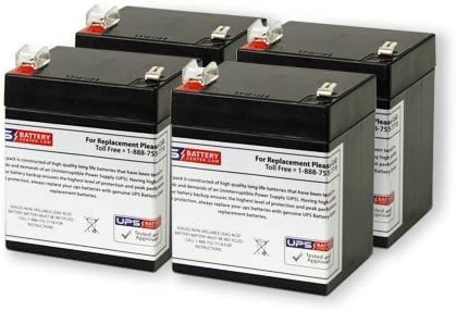 12V 5AH SLA Replacement Battery for ION Audio Tailgater Active 4 Pack
