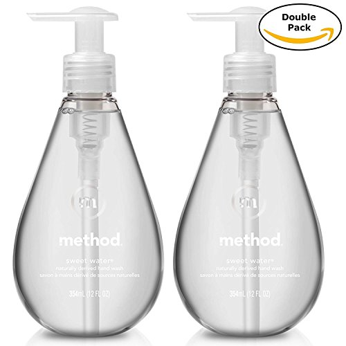 (Method Naturally Derived Biodegradable Gel Hand Soap, Sweet Water Scent, Double Pack, 12 Fl. Oz Each, Total 24 Fl. Oz)