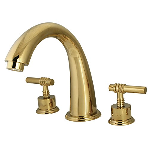 Kingston Brass KS2362ML Milano Roman Tub Filler, Polished Brass - Roman Tub Filler Polished Brass