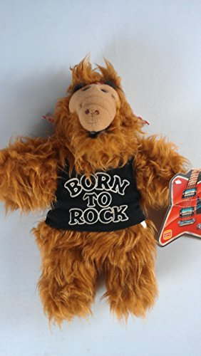 "Burger King Alf, 11"" Plush Hand Puppet Doll Toy, Born to Rock"