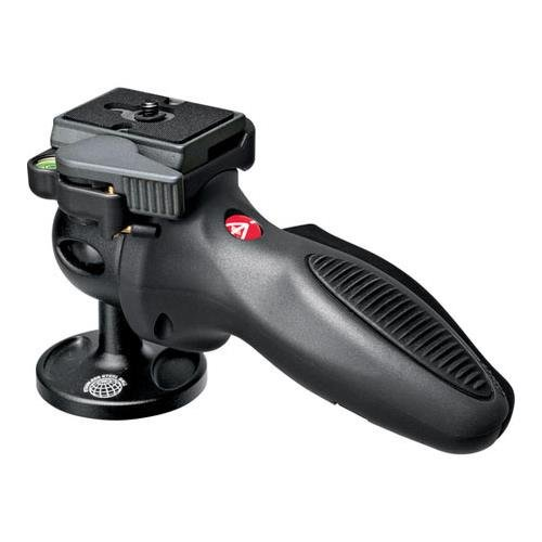 Manfrotto 324RC2 Lightweight Adapto Technopolymer Body Joystick Head with Quick Release, Dark Gray with FREE Additional Mounting Plate by Manfrotto
