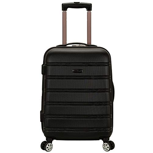 - Rockland Luggage Melbourne 20 Inch Expandable Abs Carry On Luggage, Black, One Size