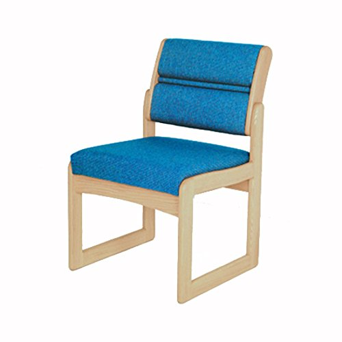 Taupe Armless Chair (Wooden Mallet DW2-1 Valley Armless Guest Chair, Medium Oak/Leaf Taupe)
