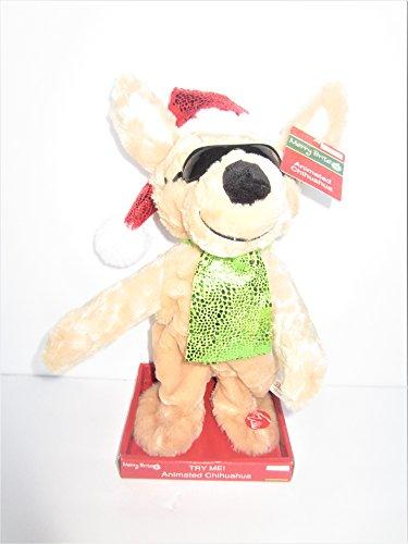 - Merry Brite Musical Animated Christmas Chihuahua Singing Feliz Navidad