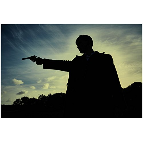 Peaky Blinders Cillian Murphy as Thomas Shelby Standing Facing Right Arm Pointed Straight Out Dark Shadow Shot 8 x 10 Inch Photo (Shelby Shadow)
