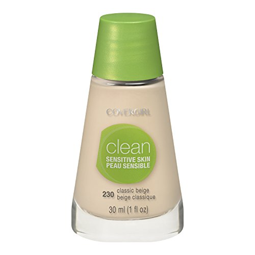 COVERGIRL Clean Sensitive Skin Liquid Makeup Classic Beige Neutral 230, 1 oz, Old Version (packaging may vary)