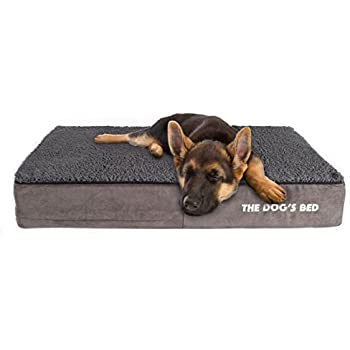 The Dogu0027s Bed, Premium Plush Orthopedic Waterproof Memory Foam Dog Beds, 5  Sizes/7 Colors: Eases Pet Arthritis, Hip Dysplasia U0026 Post Op Pain, ...