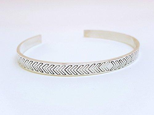 Chloe - Chevron Cuff - Sterling Silver - Chloe Sterling Silver Bracelet