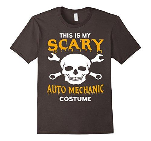Auto Mechanic Halloween Costume (Mens Scary Auto Mechanic Halloween Costume T-Shirt 2XL Asphalt)