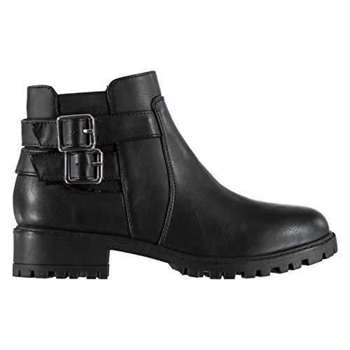 Miso Damen Cojito Boots Damen Flache Stiefeletten Schwarz