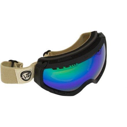 Von Zipper Feenom Snow Goggle,Shift into Neutral Frame/Quasar Chrome Lens,One - Feenom Zipper Von Lenses