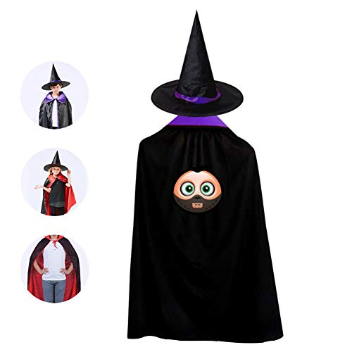 HowoFun Child Wizard Witch Cloak Hannibal Lecter Halloween Mask Full Length Cape With Hat]()