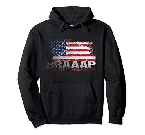 USA Flag Braaap Hoodie, Motocross American Flag Hoodies