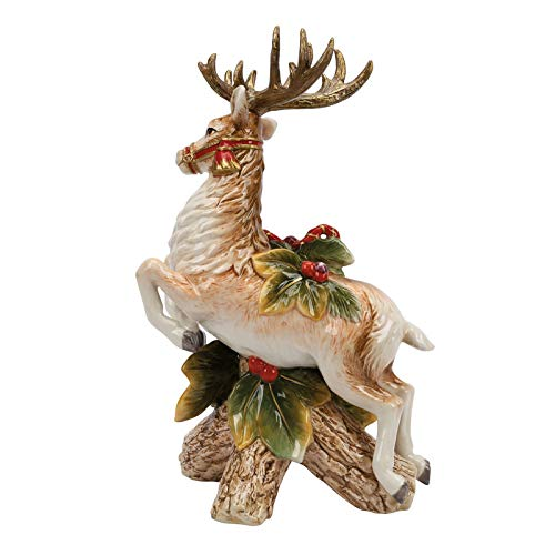 (Fitz and Floyd Collectible Candle Holder, Leaping Reindeer)
