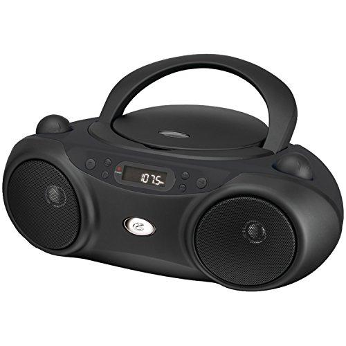 GPX Radio/CD Player Boombox - Black BC232B