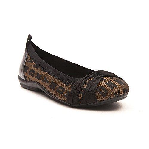 Dkny Dames Prachtige Logo Gouden Mode Ballet Flats Schoenen